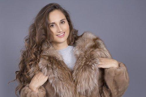 fur coat  fur  view