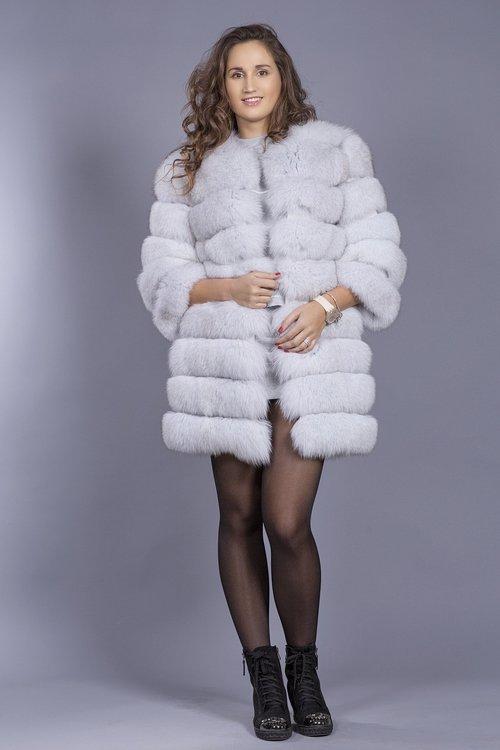 fur coat  model  winter