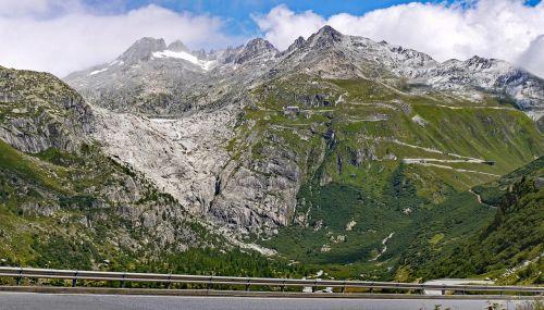 furka pass rhône glacier rhônequelle