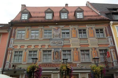 füssen,namai,fasadas,haeuserfassde,dažytos,miesto vaistinė,vaistinė,dažymas,centro