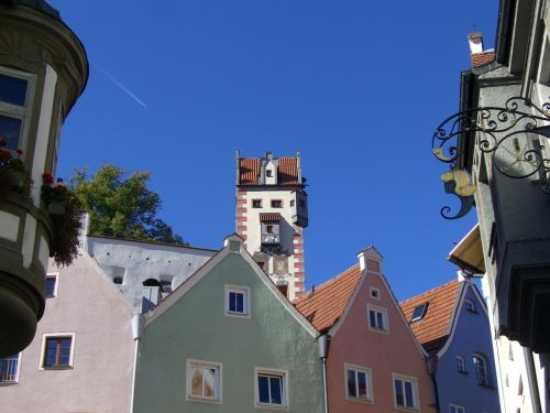 füssen row of houses old town