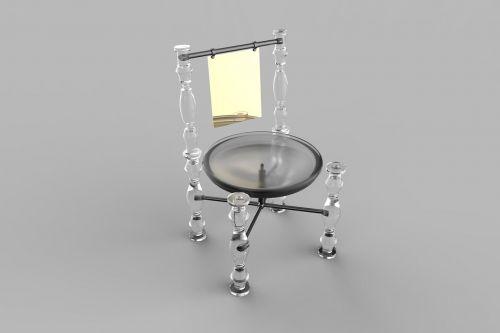 futuristic chair interior