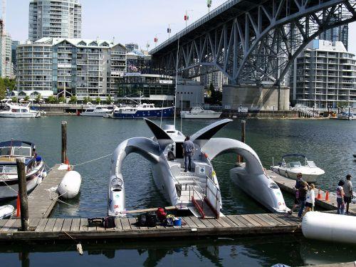 futuristic earthrace catamaran