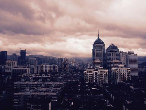 fuzhou at dusk cloud