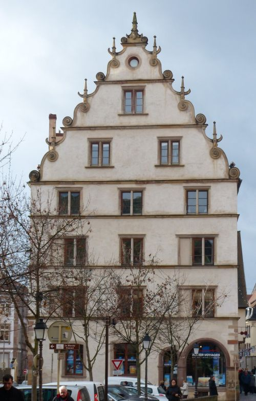 gable facade old town
