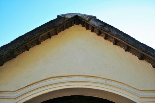 Gable And Thatched Roof