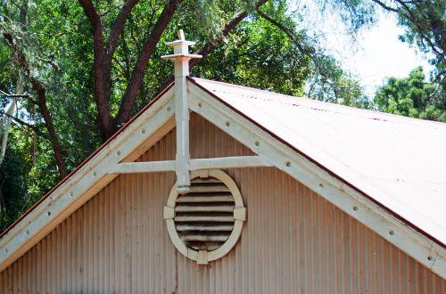 Gable Of Corrugated Iron House