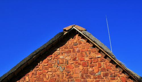 Gable Of Stone Building