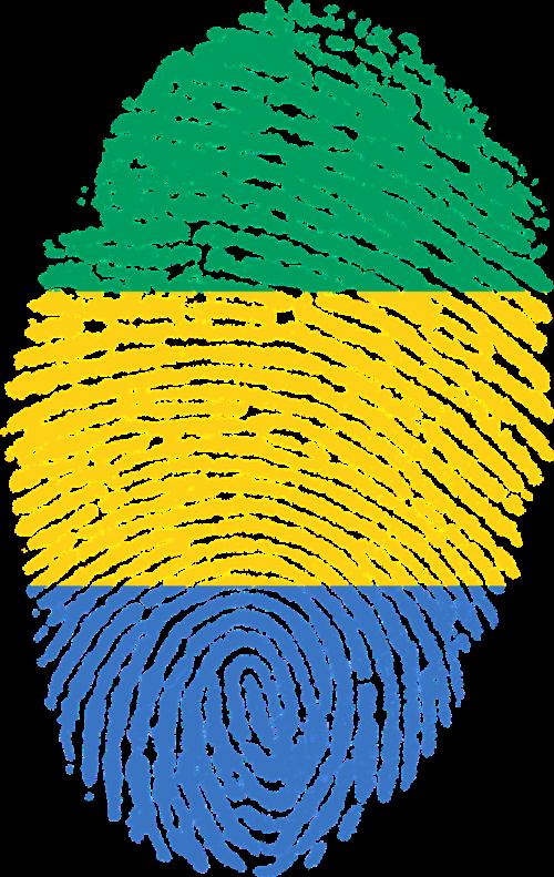 gabon flag fingerprint