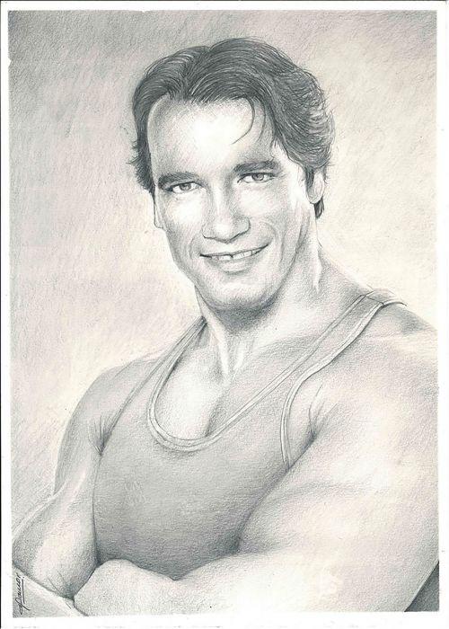 gabriel,moralinis,iliustracija,menas,portretas,dažymas,arnold,dailininkas,pieštukas,Schwarzenegger