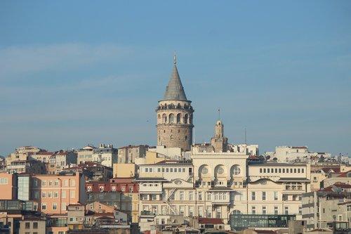 galata  galata tower  landscape