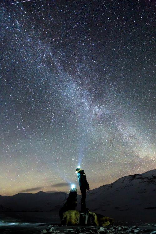 galaxy northen lights auroras