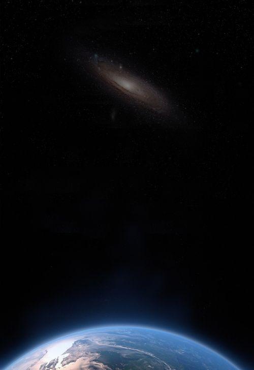 galaxy andromeda fog
