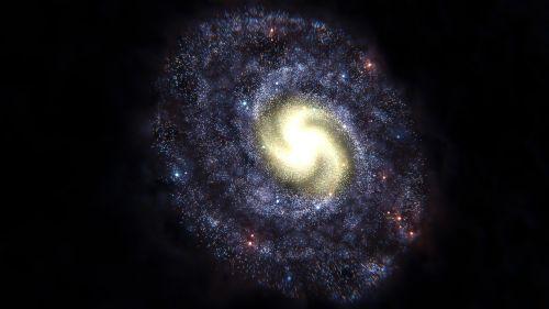 galaxy spiral galaxy fog