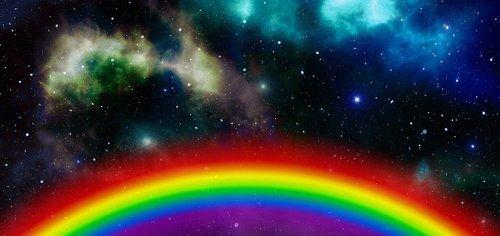 galaxy  rainbow  universe
