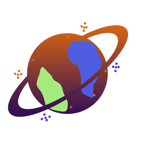 galaxy icon  earth icon  planet