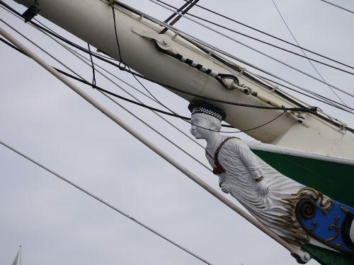 galionsfigur rickmer rickmers ship
