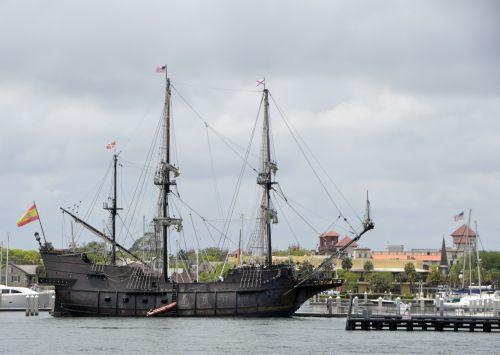 Galleon Ship Moored