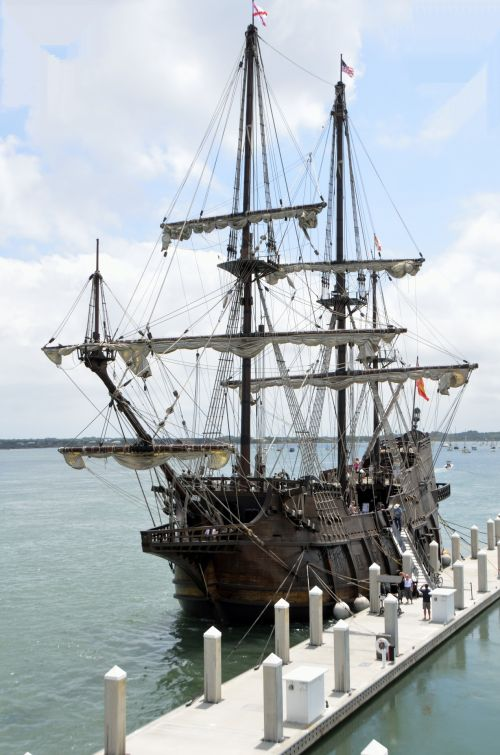 Galleon Ships Moored