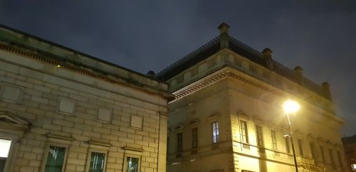 Mančesteris, galerija, naktis, tamsa, art & nbsp, galerija, atmosfera, galerijos stogas naktį