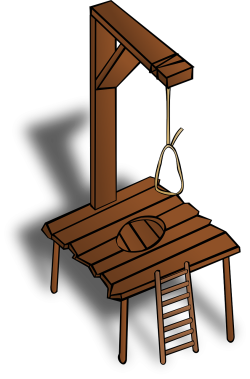 gallows hanging wooden