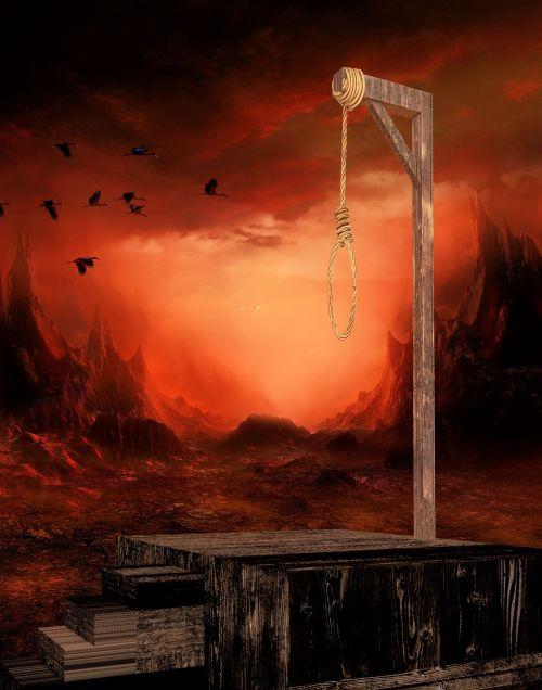 gallows knitting hang