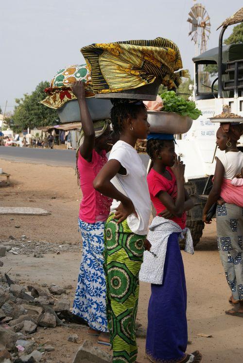 gambia girls fish market