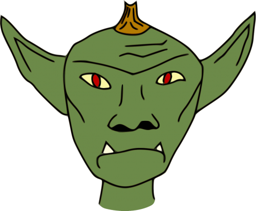 game asset call non-human beings simple goblin head