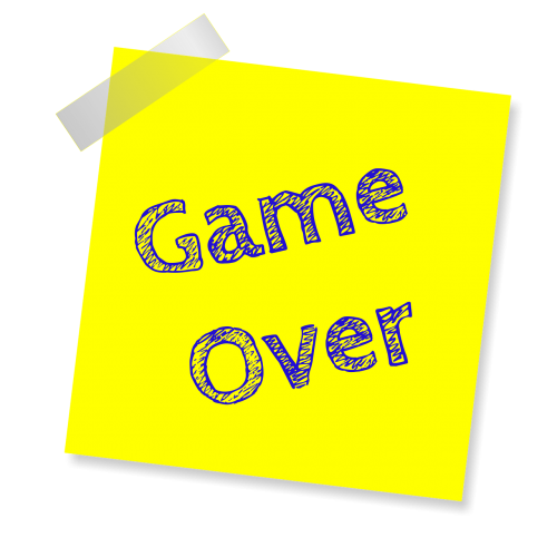 game over reminder post note sticker