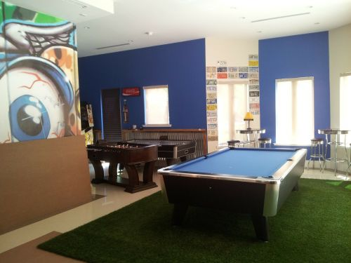 game room billiards entertainment