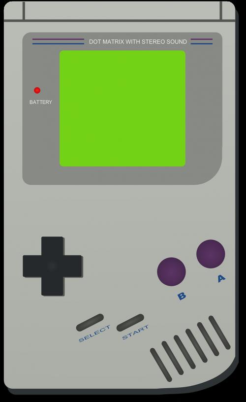gameboy,Nintendo,kompiuterinis žaidimas,rodyti,delninis,žaidimų konsolė,vaizdo konsolė,nemokama vektorinė grafika