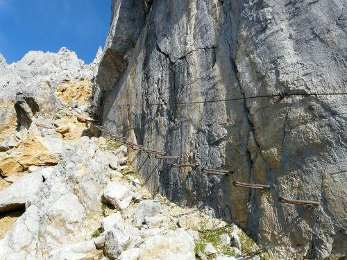 gamsängersteig climbing hunter wall