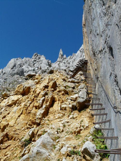 gamsängersteig climbing shoring