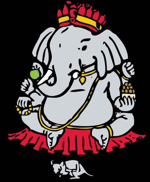 ganesha elephant god mouse