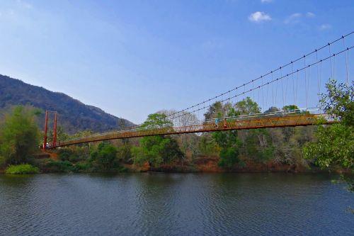 gangavali river hanging bridge scenic