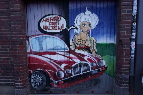 garage garage door painted