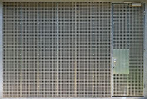 garage door steel grid texture