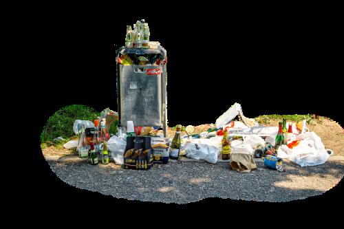 garbage waste garbage can
