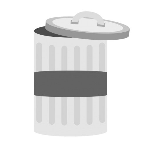 garbage bucket waste