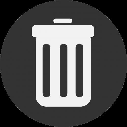 garbage garbage can delete