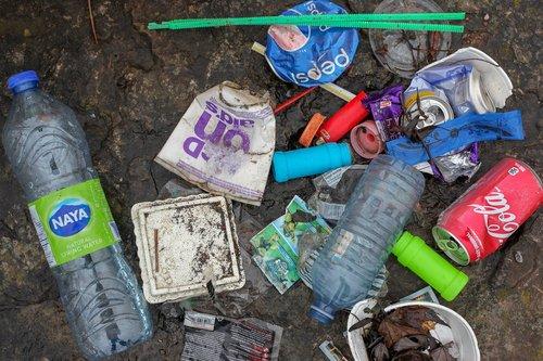 garbage  plastic  beach