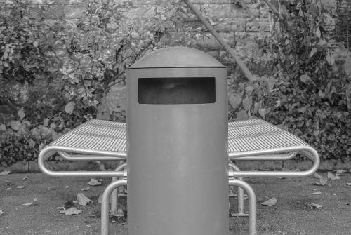 garbage garbage can bank
