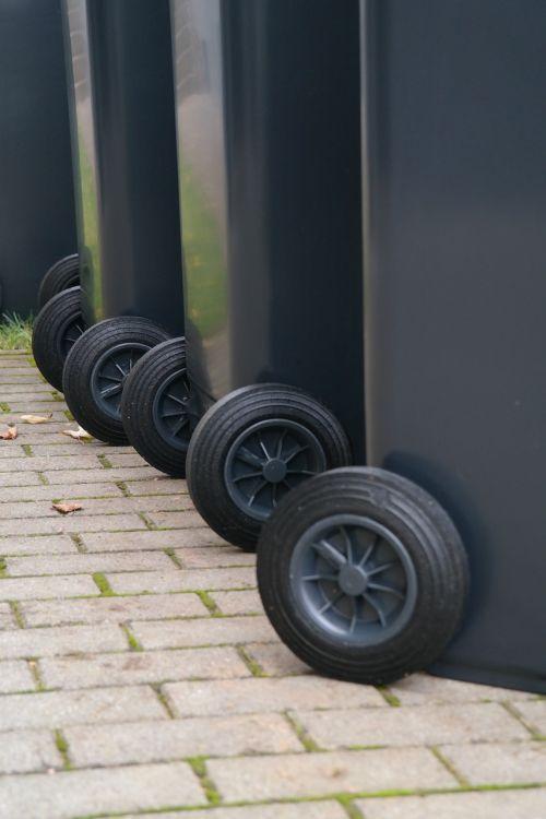 garbage can dustbin wheels