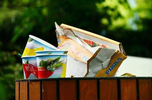 garbage can  garbage  waste