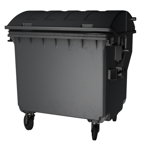 garbage can  isolated  disposal
