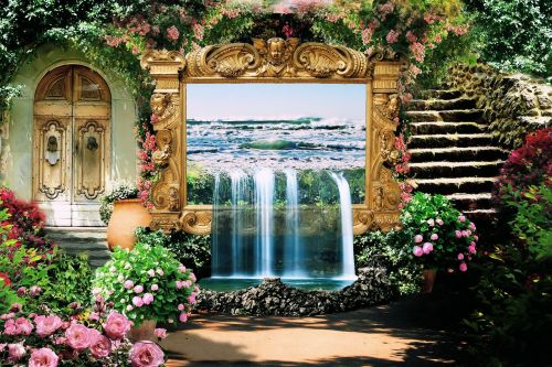 garden flowers fantasy