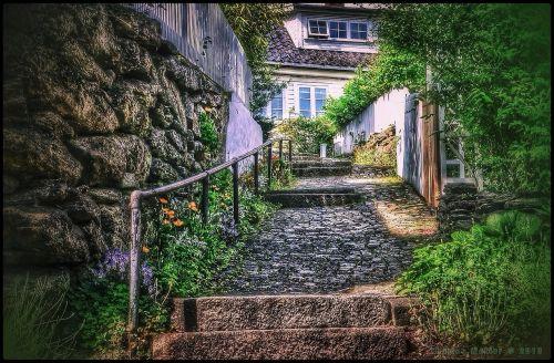 garden stairs gradually