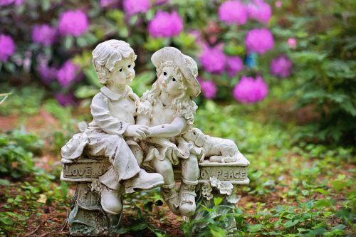 garden gardening statue