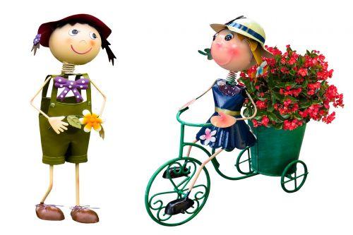 garden flowers figures