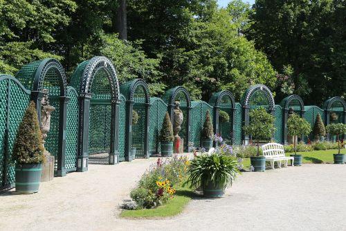 sodas,augalas,parkas,pilis,pilies parkas,taikoma,tvenkinys,hermitage bayreuth